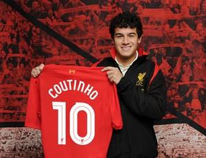Philippe Coutinho liverpool (Foto: Divulgação/Site Oficial Liverpool)