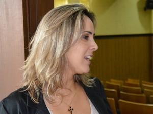 Assessora técnica do Senar Nacional, Fernanda Leite, participou do lançamento da pedra fundamental do centro de excelência  (Foto: Anderson Viegas/Do Agrodebate)