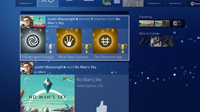 PlayStation 4 terá redesign da seção de Novidades em atualização (Foto: Reprodução/PlayStation Blog)