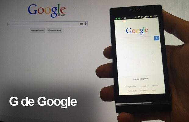 cartela google (Foto: G1)