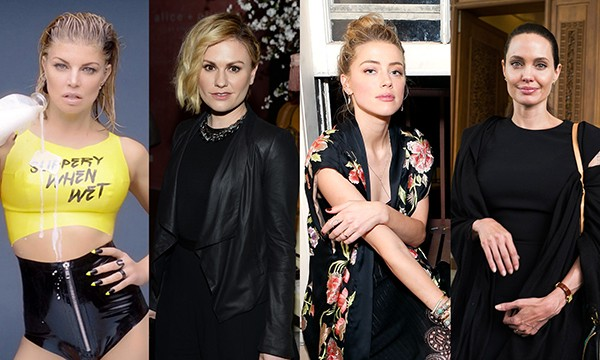 Fergie, Anna Paquin, Amber Heard e Angelina Jolie (Foto: Getty Images / Instagram)