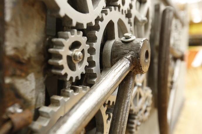 As engrenagens dessa casa-fábrica (Foto: Raphael Dias/Gshow)