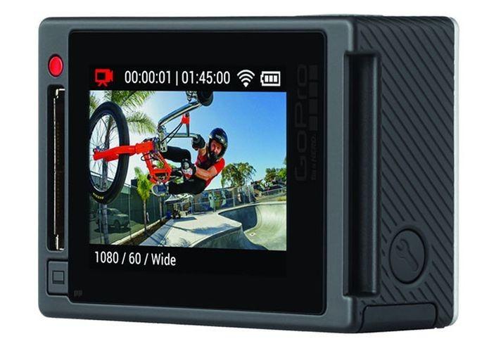 Detalhe do display touchscreen da GoPro HERO4 Silver (Foto: Divulgação)