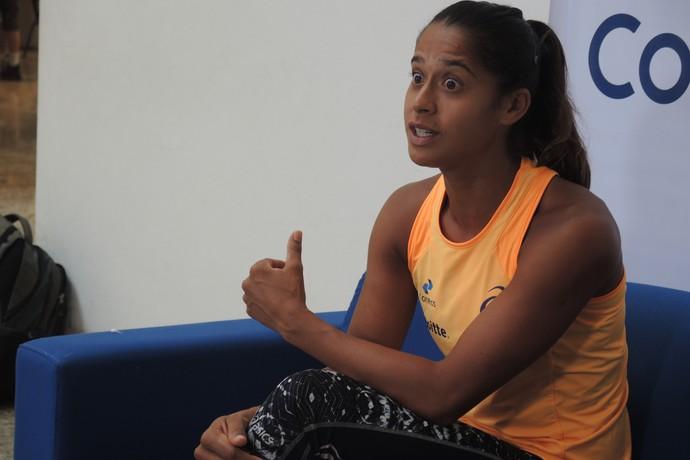Teliana Pereira tênis coletiva SP (Foto: David Abramvezt)