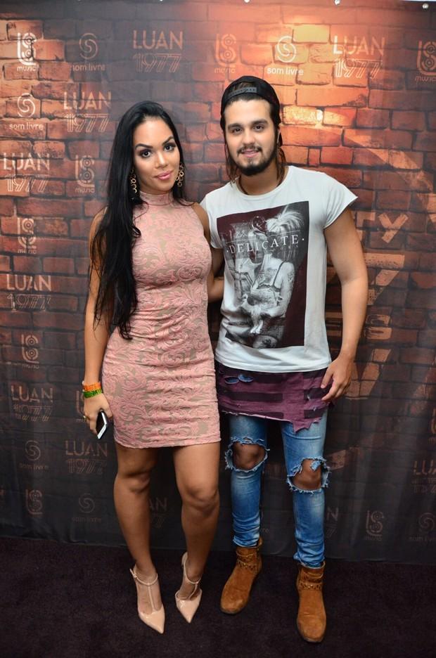 Ex-BBB Mayara e Luan Santana (Foto: Webert Belicio / Ag News)
