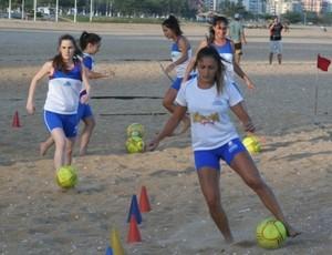 Natalia Geração Sports futebol de areia Brasileiro de Clubes feminino (Foto: Pauta Livre)