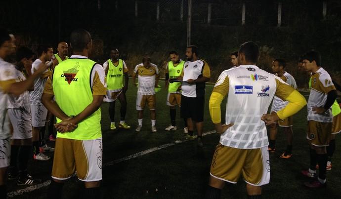 Rio Branco-ES treina visando a disputa da Copa dos Campeões no MG (Foto: Luz Estratégias em Comunicação)