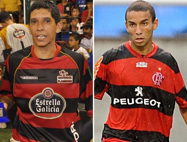Montagem - Selé e Rafinha, Flamengo (Foto: Editoria de Arte)