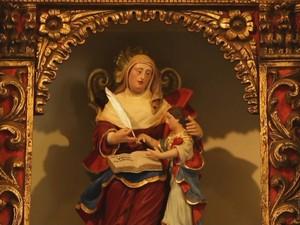 Processo já começou com restauro da imagem de Sant'Ana (Foto: Reprodução/TV TEM)