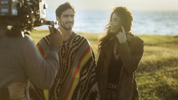 Os Dias Eram Assim: Renato Góes e Casadevall gravam  (Globo/Mauricio Fidalgo)