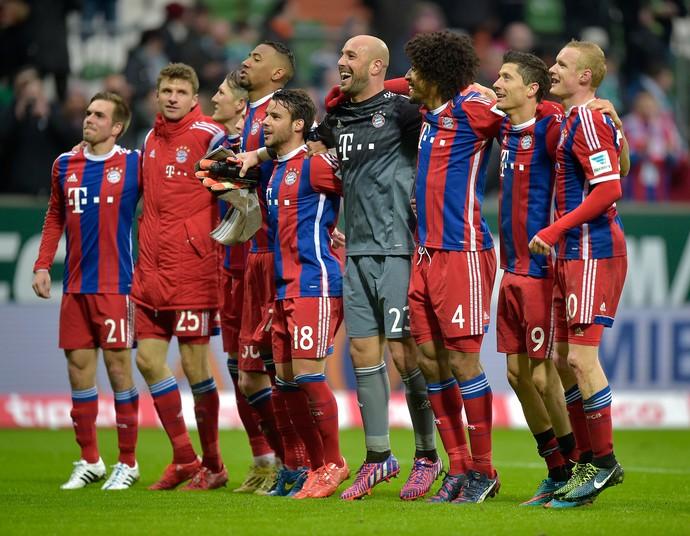 Bayern de Munique comemora vitória (Foto: AP)