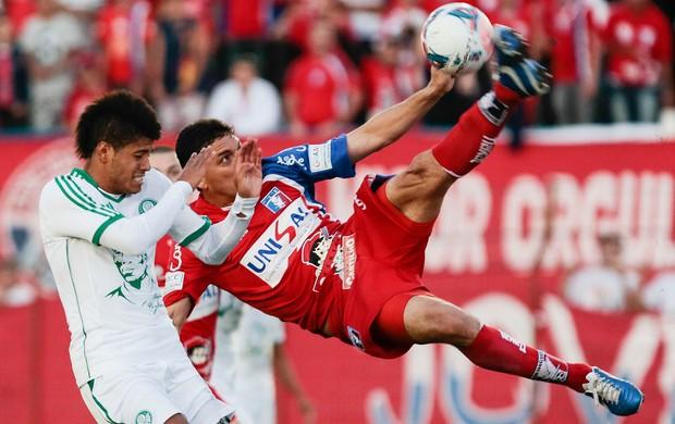 Leandro e Pedro Paulo Palmeiras x Guaratinguetá (Foto: Miguel Schincariol / Ag. Estado)