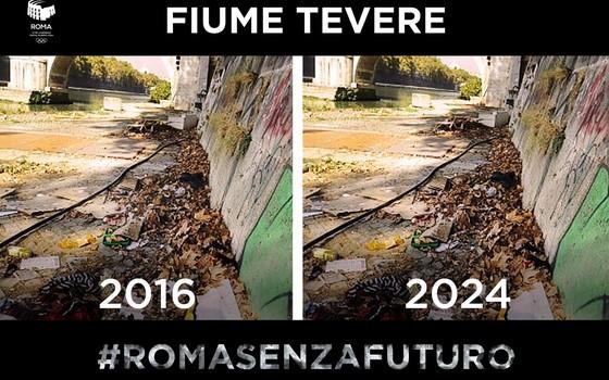 #RomaSemFuturo: os entusiastas da candidatura de Roma para 2024 começaram a atacar a prefeita (Foto: Reprodução / Twitter)