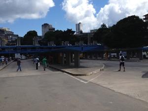 Movimento na Estação da Lapa (Foto: Ruan Melo/ G1)
