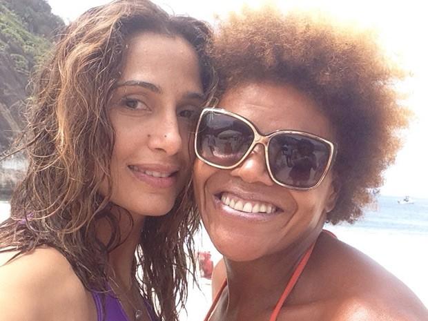 Camila Pitanga faz self com Andreia (Foto: Arquivo Pessoal)