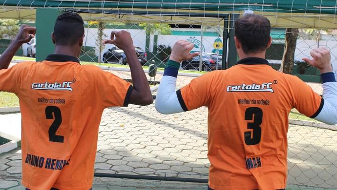 Renan e Bruno Henrique - Goiás - Cartola FC (Foto: Fernando Vasconcelos / Globoesporte.com)