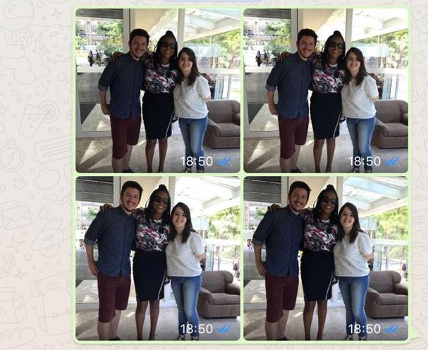 Agrupamento de imagens é uma das novidades do WhatsApp (Foto: Reprodução)