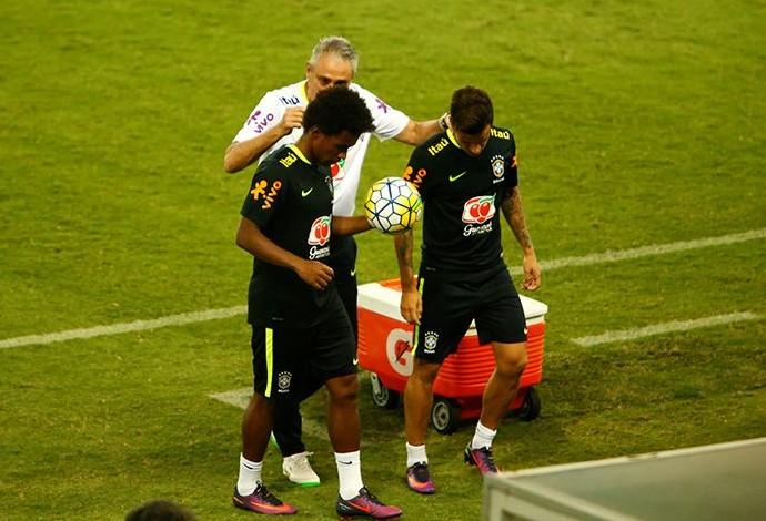 Tite Willian Coutinho (Foto: Alexandre Lago/GloboEsporte.com)