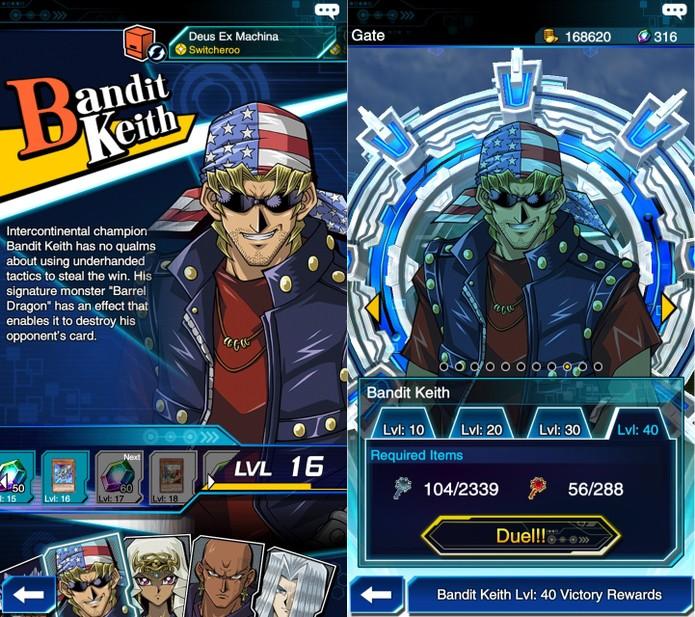 Yu-Gi-Oh! Duel Links: Bandit Keith é liberado após derrotar 50 duelistas lendários (Foto: Reprodução/Vinícius Mathias)