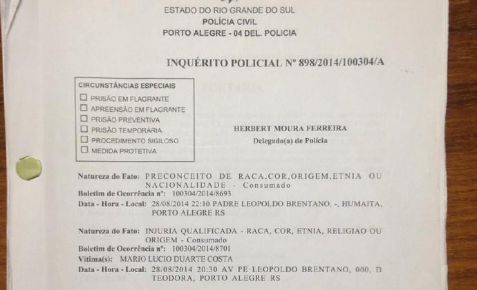 Inquérito sobre caso Aranha é apresentado no Palácio da Polícia, em Porto Alegre  (Foto: Paula Menezes)