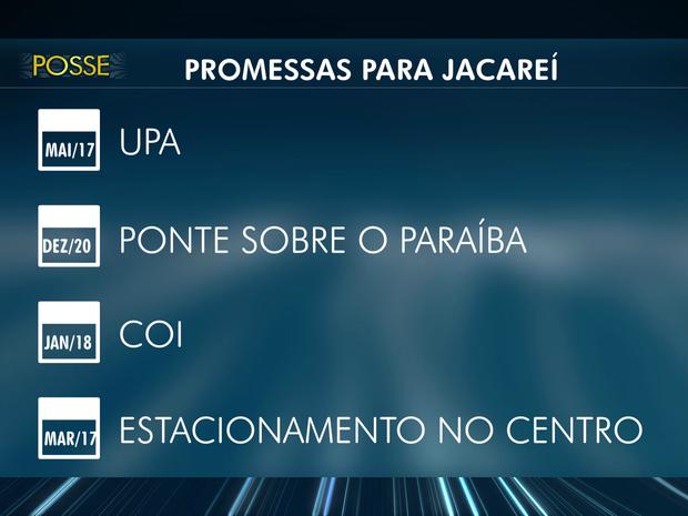 Calendário com as promessas da campanha do Izaías Santana, prefeito eleito em Jacareí (Foto: Reprodução/TV Vanguarda)