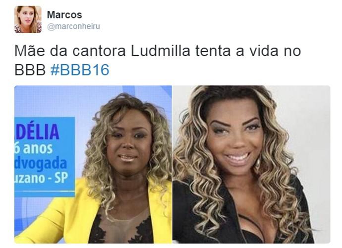 Usuários comparam Adélia e Ludmilla  (Foto: Reprodução )