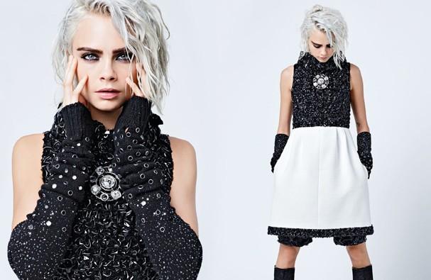 Cara Delevigne e Lily-Rose Depp posam para a campanha de pret-à-porter inverno 2018 da Chanel! (Foto: Divulgação)