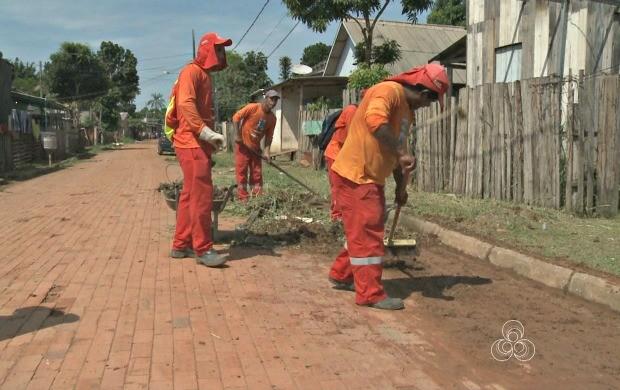 Ações de limpeza nos bairros de Rio Branco já retiraram 860 toneladas de entulhos (Foto: Bom Dia Amazônia)