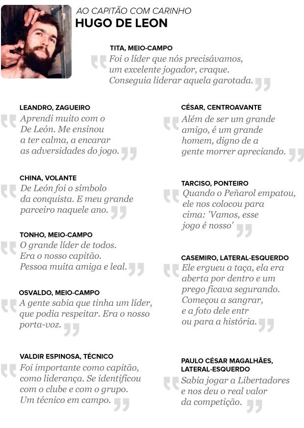 frases de HUGO DE LEON - 2 (Foto: arte esporte)