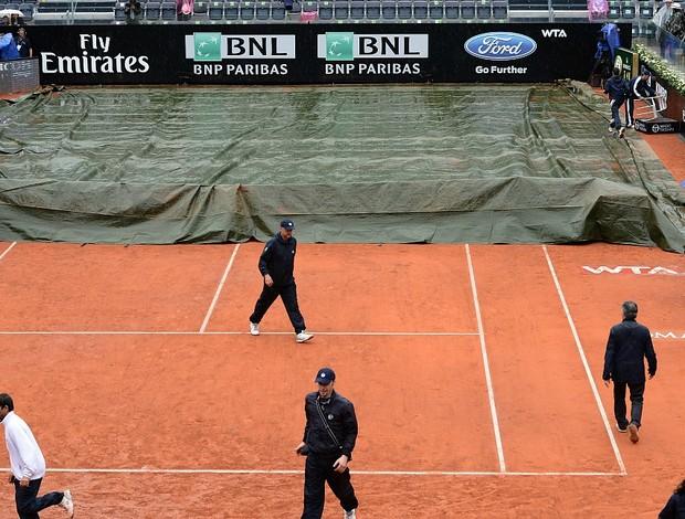 Roma chuva tênis (Foto: AFP)