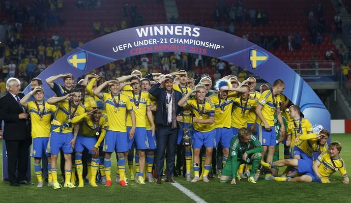 Suécia campeã Eurocopa Sub-21 (Foto: Reuters)