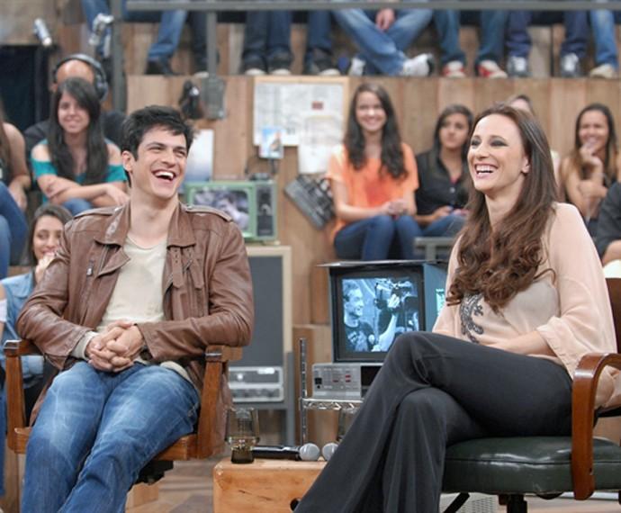 Paula Braun com o marido, o ator Mateus Solano (Foto: Gshow)