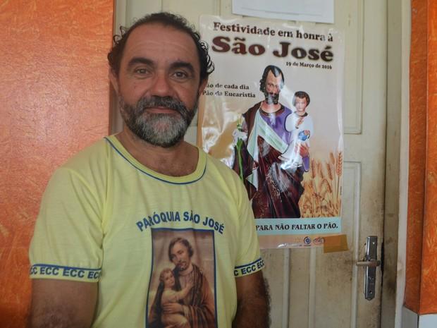 José Livaldo da Fonseca, José, São José, padroeiro, Amapá, Macapá, (Foto: Fabiana Figueiredo/G1)