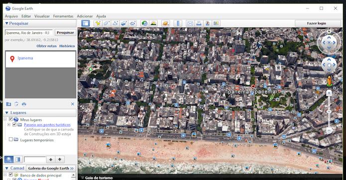 Localização com zoom máximo de aproximação no Google Earth (Foto: Reprodução/Marvin Costa)