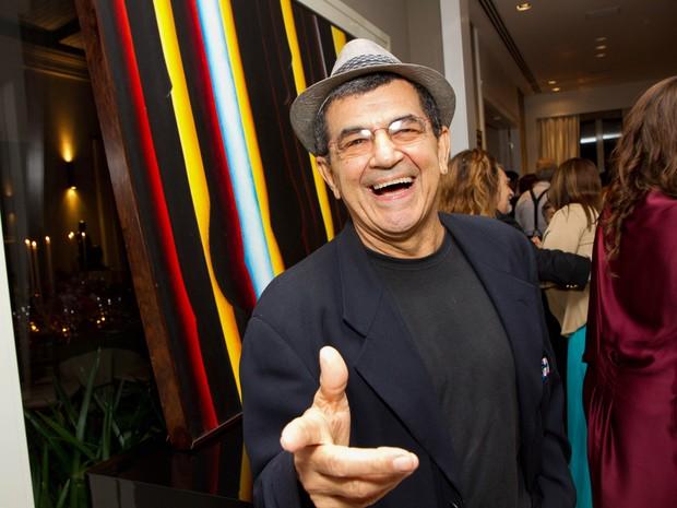 O artista plástico Ivald Granato durante evento na Pinacoteca do Estado, em São Paulo, em fevereiro de 2014  (Foto: Silvana Garzaro/Estadão Conteúdo)