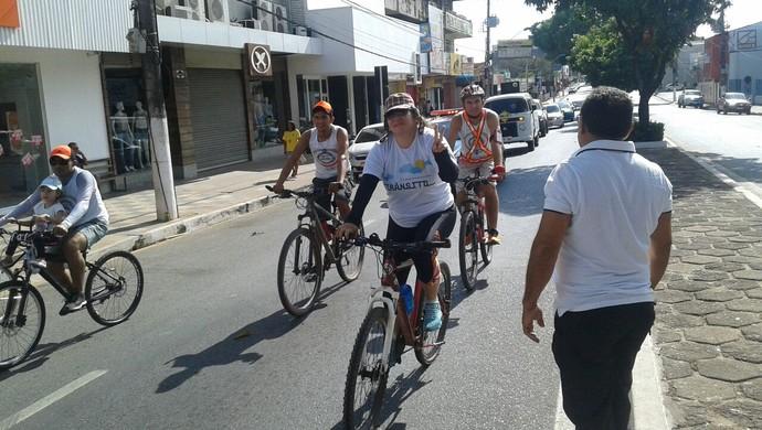 Ciclistas participara do passeio em comemoração à Semana Nacional do Trânsito (Foto: Geciclei Cerdeira Paz/Arquivo pessoal)