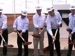 Governador Geraldo Alckmin visitou a obra da Randon em outubro de 2014 (Foto: Arquivo/EPTV)
