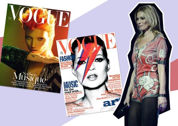 Homenagens de Kate Moss para David Bowie (Foto: Reprodução)