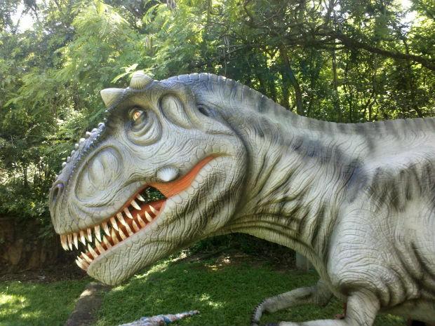 Réplicas dos nove dinossauros se movem e emitem sons  (Foto: Divulgação/Rafael Bezerra)