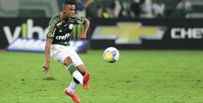 Gabriel Jesus Palmeiras x Bragantino (Foto: Marcos Ribolli)