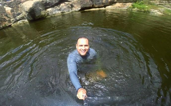 Cachoeira de Macambira, o primeiro destino do 'Partiu Paraíso' (Foto: TV Sergipe)