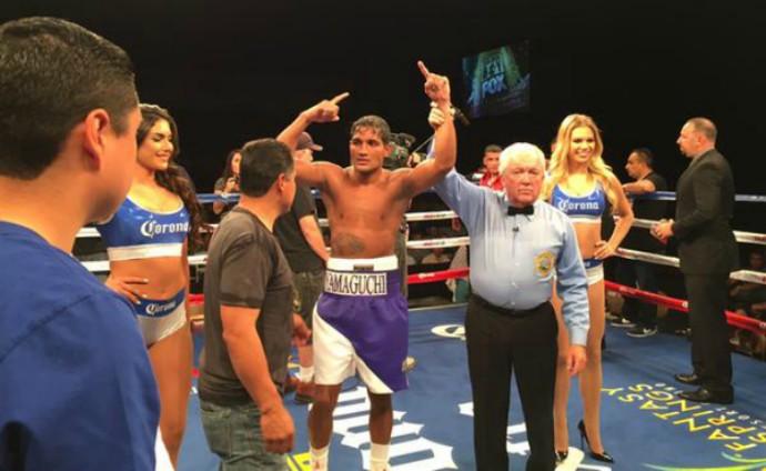 boxe Yamaguchi Falcão x Gerardo Ibarra (Foto: Reprodução / Twitter)
