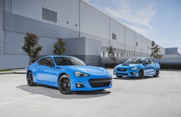 Subaru WRX STI e Subaru BRZ, da série HyperBlue (Foto: Divulgação)