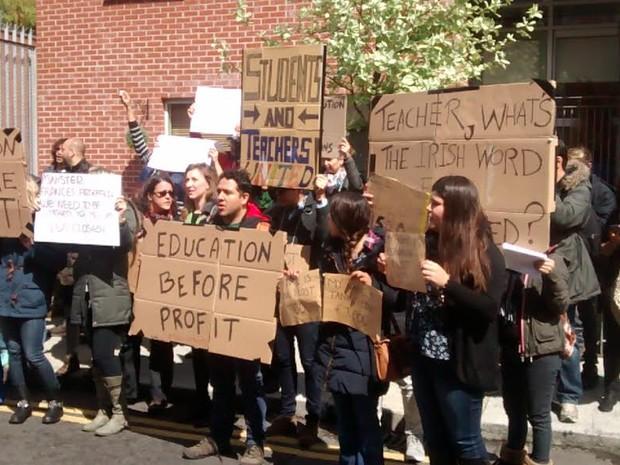 Estudantes brasileiros reclamam de fechamento de escolas de inglês na Irlanda (Foto: Bruno Maciel/Arquivo pessoal)