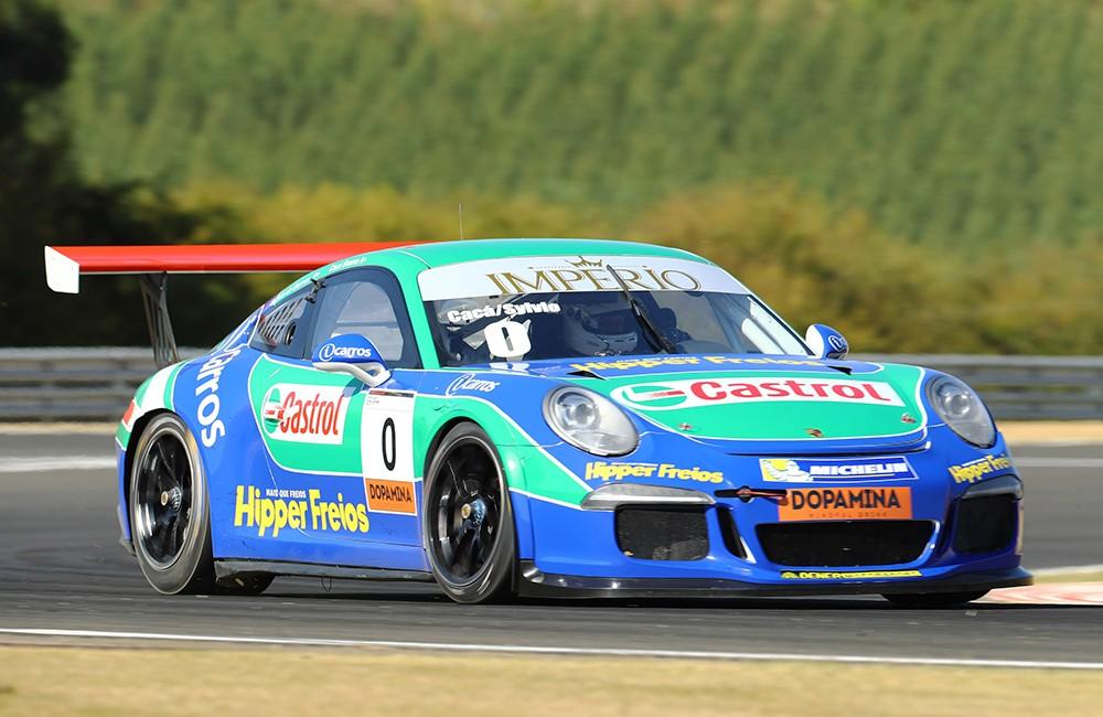 Cacá Bueno e Sylvio de Barros Endurance Porsche Imperio GT3 Cup (Foto: Divulgação/Luca Bassani/Porsche Império GT3)