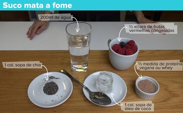 Sucos funcionais - Shake mata a fome (Foto: Jessica Monstans / EGO)