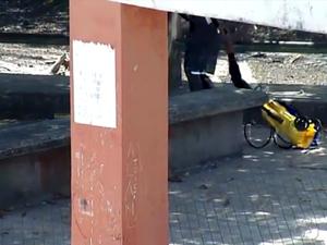 Circuito registrou homem escondendo objeto roubado (Foto: Reprodução/TV Amapá)