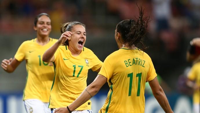 Andressinha seleção brasileira futebol feminino (Foto: Lucas Figueiredo / CBF)