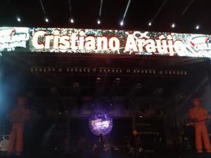Cristiano Araújo é homenageado durante evento no qual se apresentaria em Caruaru, Agreste de Pernambuco (Foto: Joalline Nascimento/ G1)