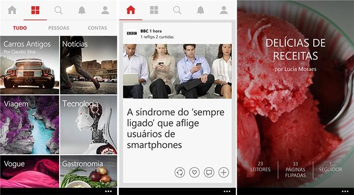 Flipboard é uma revista virtual para Windows Phone cheia de novidades (Foto: Divulgação/Windows Phone Store)
